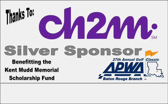 The Baton Rouge Branch would like to thank Silver Sponsor CH2M for participating in this years golf tournament.